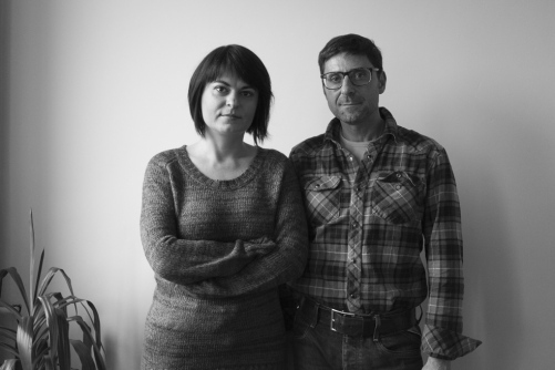 Natalia Radina in den Redaktionsräumen von Charta97 in Warschau