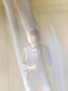Natalia Radina im Hof ihres Redaktionsbüros
