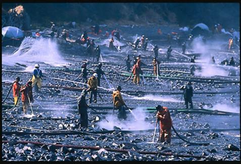 cleanup nach der valdez katatsrophe in alaska